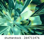 3d abstract emerald green... | Shutterstock . vector #264711476