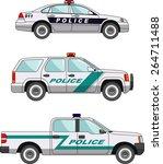 three variants of police car...