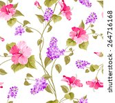 seamless pattern of siringa and ... | Shutterstock .eps vector #264716168