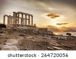 Famous Greek Temple Poseidon  ...
