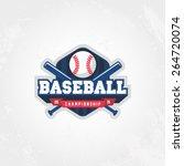 baseball championship logo | Shutterstock .eps vector #264720074
