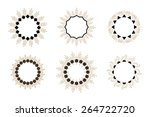 set of six round frames. hand... | Shutterstock .eps vector #264722720