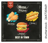 restaurant fast foods menu on... | Shutterstock .eps vector #264730469