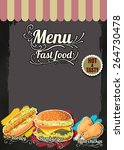 restaurant fast foods menu on... | Shutterstock .eps vector #264730478