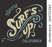 surf's up hand lettering  t... | Shutterstock .eps vector #264731564