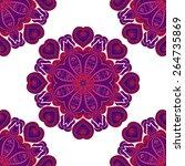 round seamless ornament pattern ...   Shutterstock .eps vector #264735869