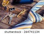 men accessories  tie  cufflinks ... | Shutterstock . vector #264741134