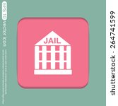 jail prison icon. symbol of... | Shutterstock .eps vector #264741599