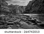 Black And White View Of The...