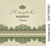 vintage background  greeting... | Shutterstock .eps vector #264743060