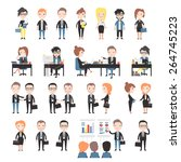 set office workers. | Shutterstock .eps vector #264745223