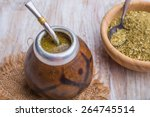 traditional yerba mate tea... | Shutterstock . vector #264745514