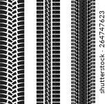 set of three black tire tracks | Shutterstock . vector #264747623