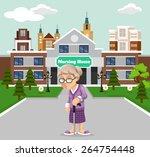 vector nursing home illustration   Shutterstock .eps vector #264754448