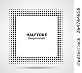 black abstract halftone square