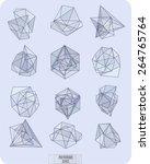abstract polygonal label design ...   Shutterstock .eps vector #264765764
