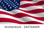 united states flag background.... | Shutterstock . vector #264766604