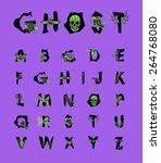 geometric font. creative... | Shutterstock .eps vector #264768080
