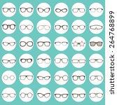 glasses icons | Shutterstock .eps vector #264768899