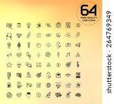 universal modern icons for web ... | Shutterstock .eps vector #264769349
