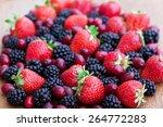 vitamins. summer berries | Shutterstock . vector #264772283