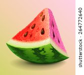 watermelon piece | Shutterstock .eps vector #264772640