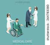 medical care nurse doctor... | Shutterstock .eps vector #264783380