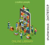 online mobile library creative... | Shutterstock .eps vector #264785519