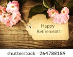 happy retirement message with... | Shutterstock . vector #264788189