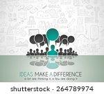 teamwork brainstorming... | Shutterstock .eps vector #264789974