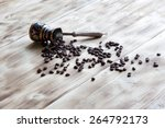 coffee beans on the table | Shutterstock . vector #264792173