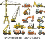 set of heavy construction... | Shutterstock .eps vector #264792698
