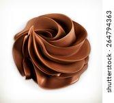 chocolate whipped cream  vector ... | Shutterstock .eps vector #264794363