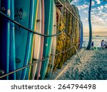 waikiki  hi   april 27  surf... | Shutterstock . vector #264794498