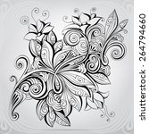 floral ornament | Shutterstock .eps vector #264794660