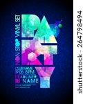 non stop vinyl party poster | Shutterstock .eps vector #264798494