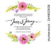 wedding invitation template.... | Shutterstock .eps vector #264802838
