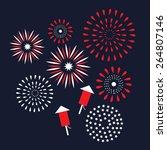 Flat Design Fireworks Eps10...