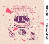 vector hand drawn illustration... | Shutterstock .eps vector #264807389