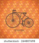 old bike on a red background | Shutterstock . vector #264807698
