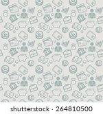 vector seamless pattern with... | Shutterstock .eps vector #264810500