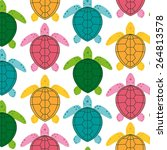 vector image of an turtle  | Shutterstock .eps vector #264813578
