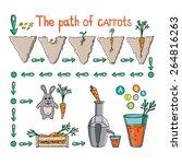 hand drawn illustration of the ... | Shutterstock .eps vector #264816263