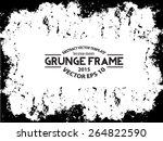grunge frame. vector template | Shutterstock .eps vector #264822590