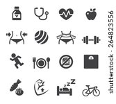 healthy icon | Shutterstock .eps vector #264823556