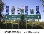 Road Signs To Interstate 40 An...