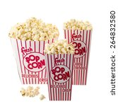 popcorn boxes isolated on white ... | Shutterstock . vector #264832580