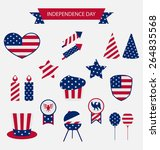 icons set usa flag color... | Shutterstock .eps vector #264835568