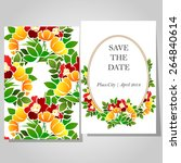 wedding invitation cards with... | Shutterstock .eps vector #264840614
