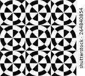black and white geometric... | Shutterstock .eps vector #264840854